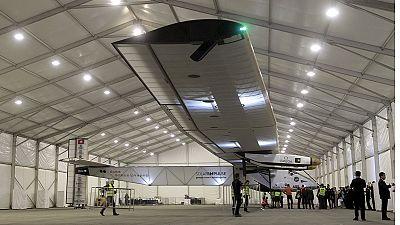 """Avião """"solar impulse"""" face às primeiras nuvens negras na China"""