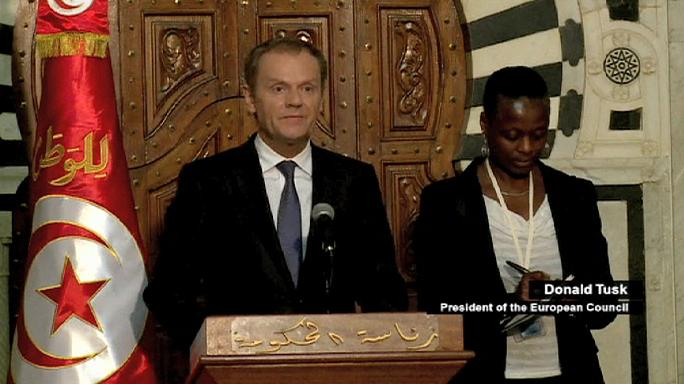 Tusk promises EU security help for Tunisia