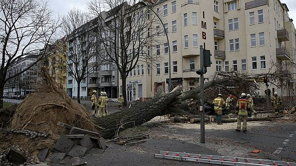 عاصفة نيكلاس تضرب شمال اوروبا