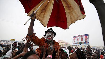 Celebrations in Nigeria as ex-military ruler Buhari wins presidency