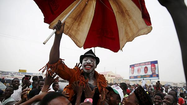 Celebrations in Nigeria as ex-military ruler Buhari wins presidency