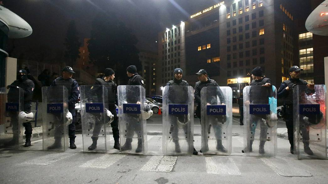 Two armed people entered an office of Turkey's ruling AK Party