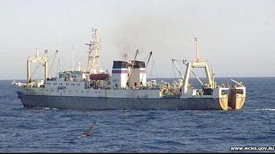 Russian trawler sinks in freezing Western Pacific Ocean