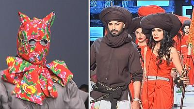 Designers go back to their roots at Beijing and Pakistan fashion events