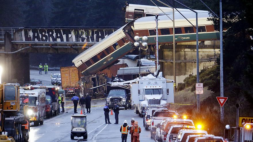 Image: Amtrak train crash