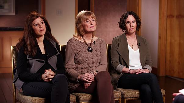 Image: Women speak about their accustations of sexual misconduct against ac