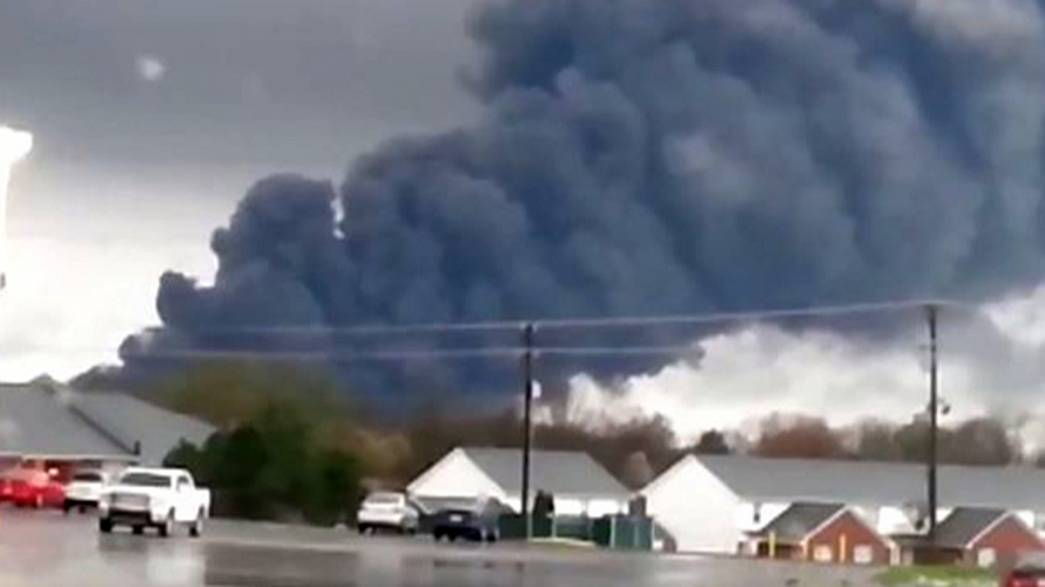 Huge fire consumes General Electric factory in Kentucky