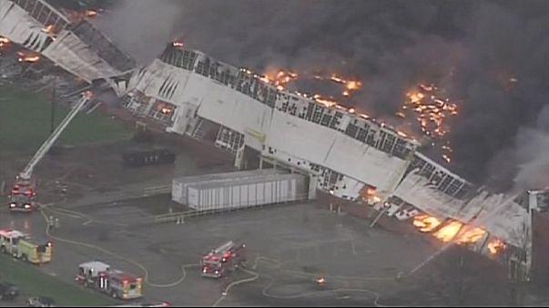 США: крупный пожар на заводе General Electric