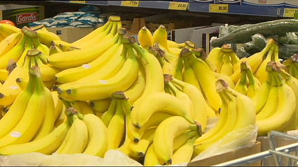 """Plátanos """"con sorpresa"""" en un Lidl de Praga"""
