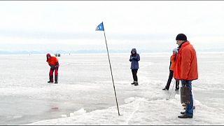 گلف بازی در سیبری