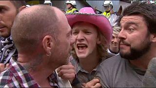 Enfrentamientos entre manifestantes antiracistas y seguidores de Reclaim Australia