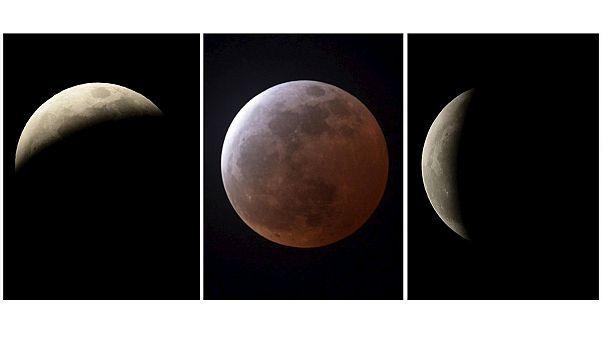 تصاویر ماه گرفتگی کامل در آمریکا