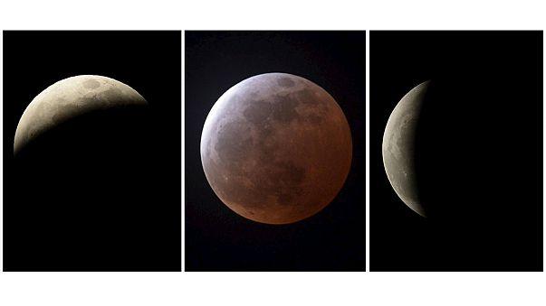 Eclissi lunare osservata a Los Angeles