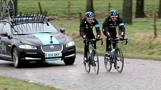 رونمایی از دوچرخه جدید تیم اسکای در تورنومنت دوچرخه سواری بلژیک