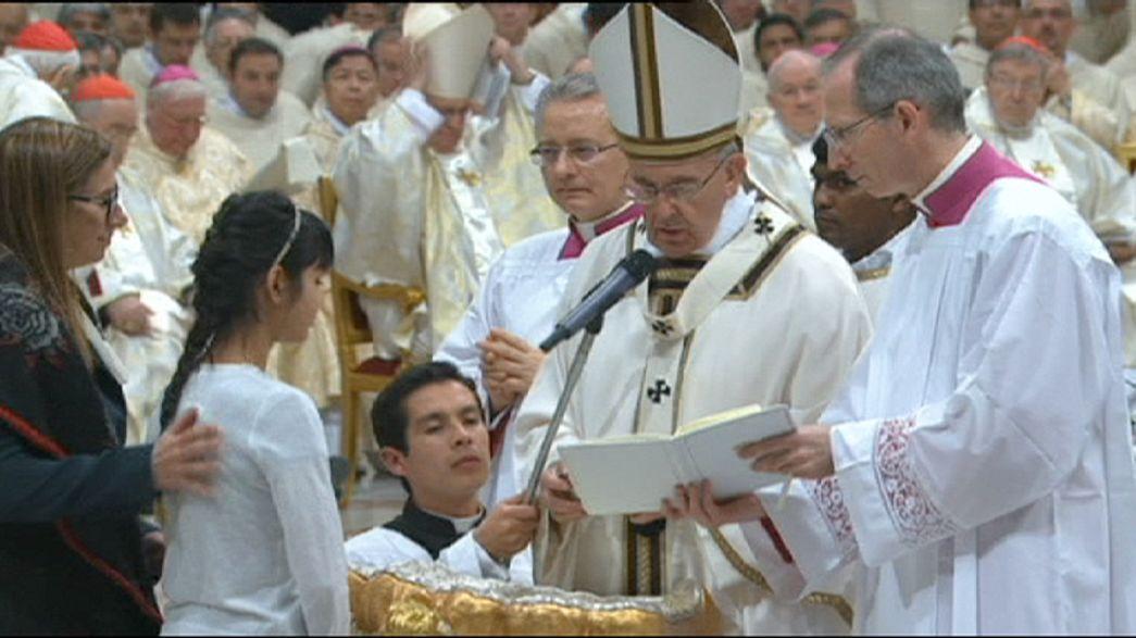 Veillée pascale au Vatican et à Bethléem