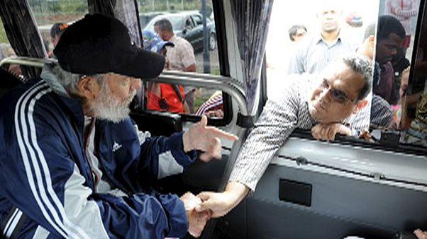 Rare apparition de Fidel Castro à Cuba