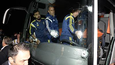 Gun attack on Turkish football team bus