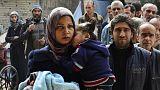 Сотни человек эвакуированы из лагеря палестинских беженцев под Дамаском