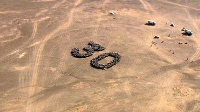 Marathon quer durch die Sahara gestartet