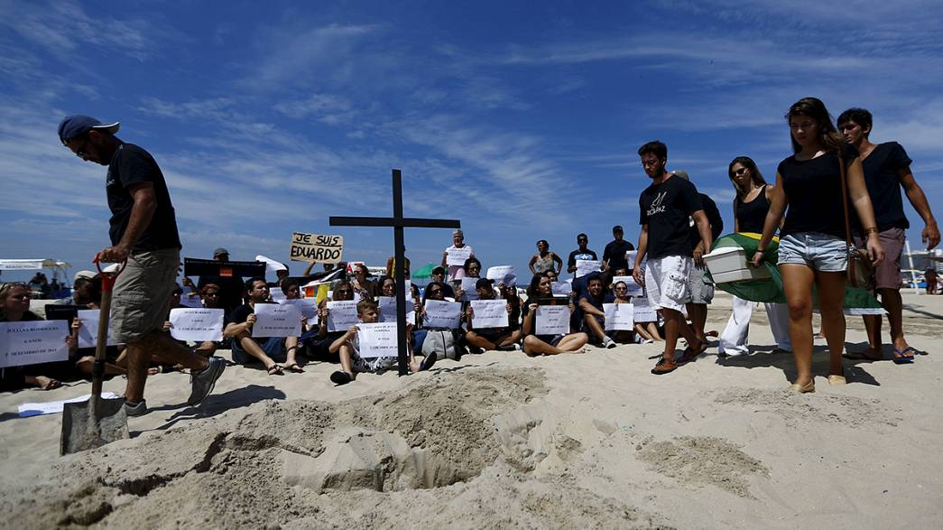 Rio de Janeiro: Protesters stage mock burial over killings in city's shantytowns