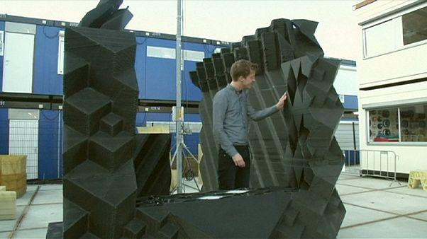 صناعة اول منزل أوروبي بواسطة طابعة ثلاثية الأبعاد في آمستردام