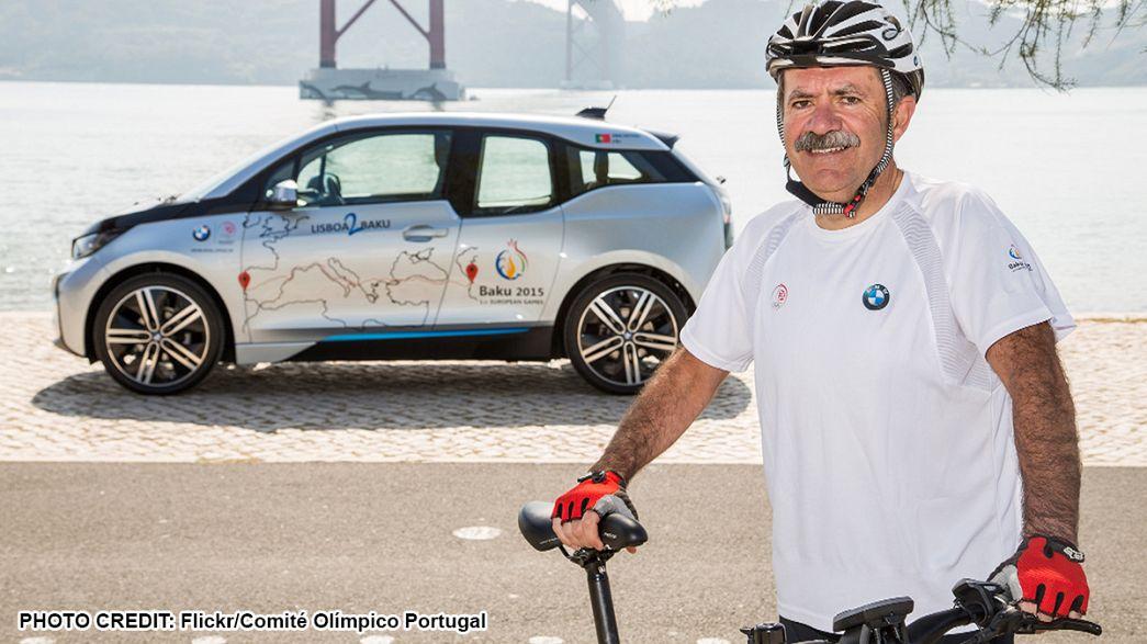 Jogos Europeus 2015: Aos 53 anos, português vai pedalar 6.800 km de Lisboa a Baku