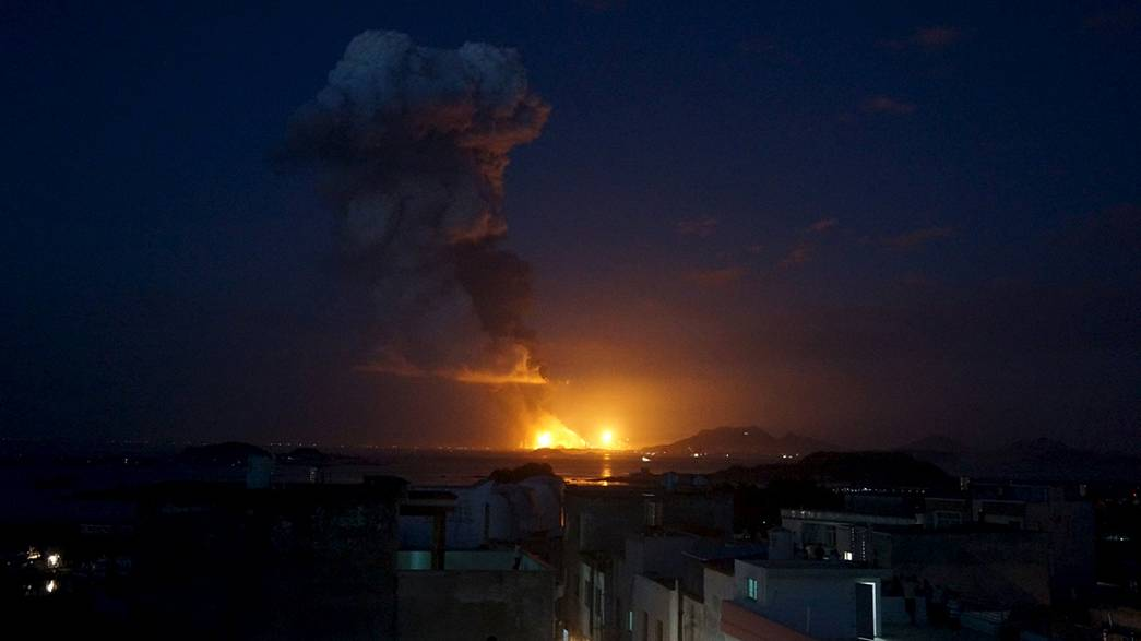 Gigantesque incendie en Chine