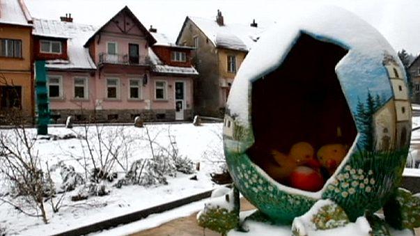 Hırvatistan Paskalya'yı kar altında kutladı
