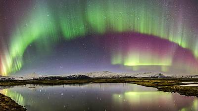 Cosmic curtains cause stunning display over Icelandic skies