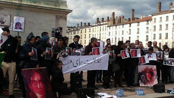 فعالان مدنی در شهر لیون فرانسه به قتل فرخنده اعتراض کردند