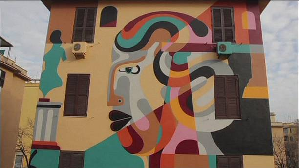 Rome's poor suburbs get a street art face-lift