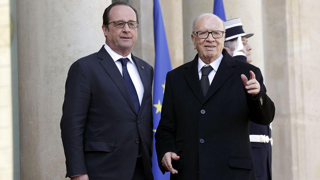 El presidente de Túnez, de visita oficial en Francia