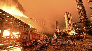 Nuevo incendio en la planta química China que sufrió una explosión el domingo