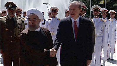 Yemen discord put aside as Iran's Rohani welcomes Turkey's Erdogan