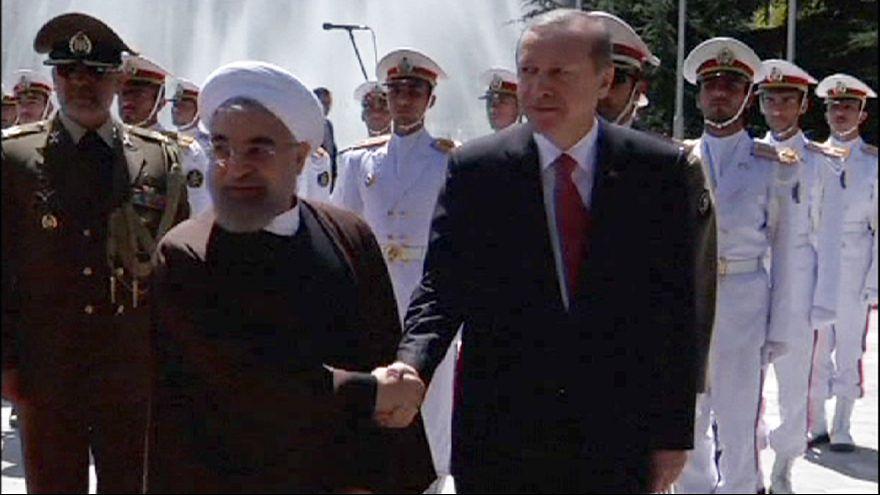 Erdogan in Teheran: Kriegsgegner Türkei und Iran demonstrieren Einigkeit
