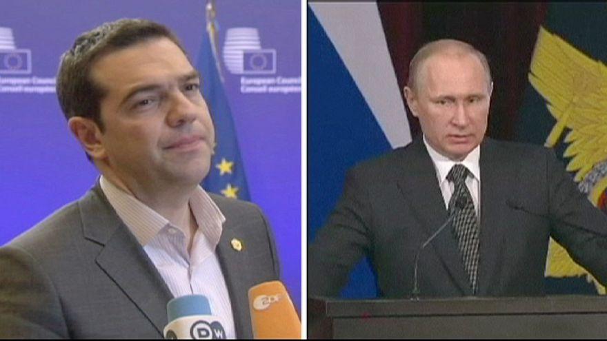 Primeiro-ministro grego estende a mão a Putin