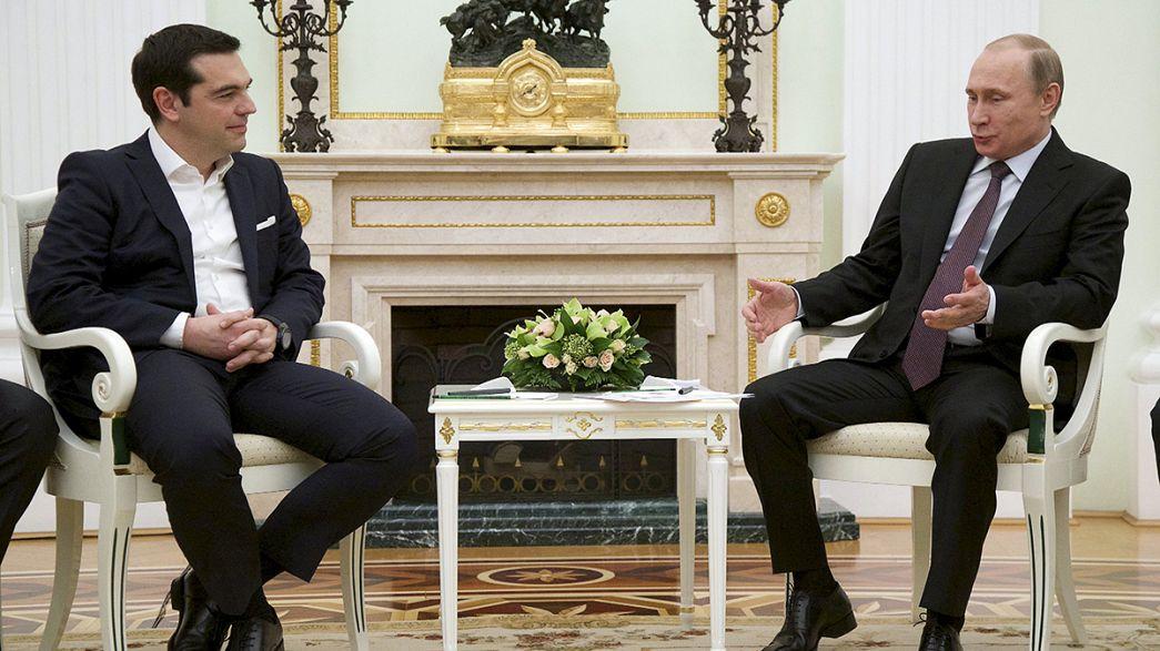 Tsipras busca en Moscú un socio para mitigar la asfixiante situación económica de Grecia