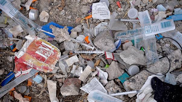 Image: Needles Used for Shooting Heroin and Other Opioids Litter the Ground