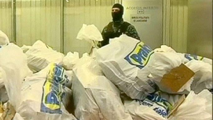 Romanian police find 'black cocaine' hidden in furniture
