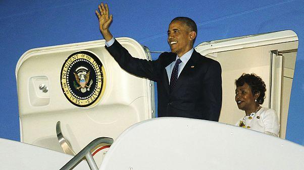باراک اوباما برای شرکت در اجلاس کاریکوم و پاناما به کارائیب سفر کرد