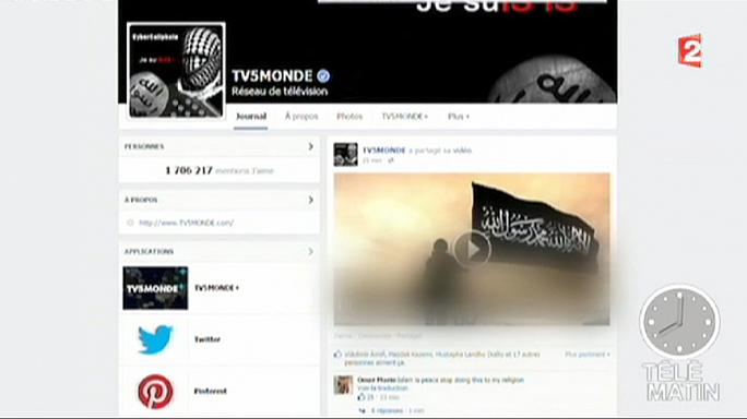 """قراصنة تنظيم الدولة الإسلامية  يشلون  شبكة """"تي في 5 موند """" الفرنسية"""