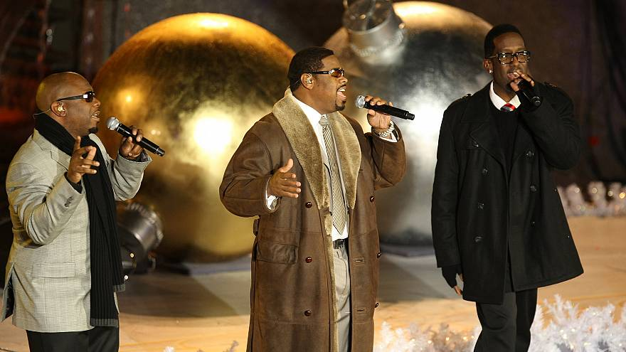 Image: Boyz II Men perform on stage