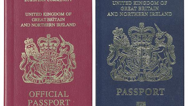 Image: The existing burgundy red UK passport (L) design will be phased out
