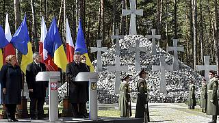 En visite à Kiev, le président polonais affiche son soutien à l'Ukraine