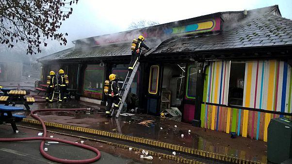 Image: London zoo fire