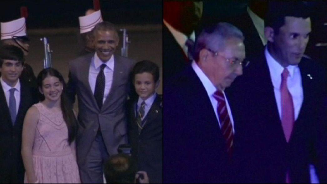 EEUU-Cuba: primer acercamiento físico entre Obama y Castro