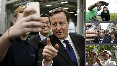 Politicians just can't resist posing for selfies