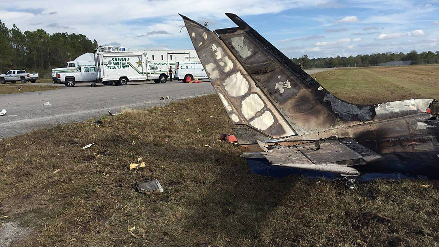 Image: The Cessna 340 plane that crashed at the Bartow Airbase