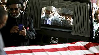 Funeral held for Walter Scott in South Carolina