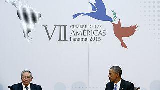 دیدار تاریخی رهبران آمریکا و کوبا در اجلاس پاناما